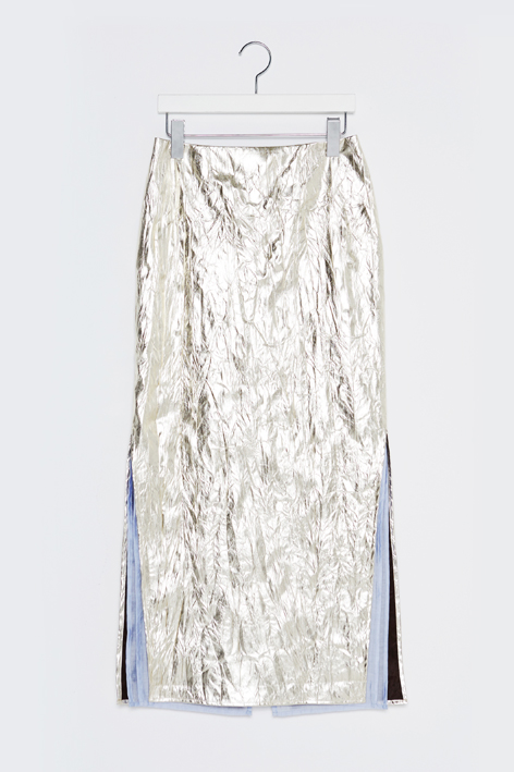 16FW METALLIC LONG SKIRT